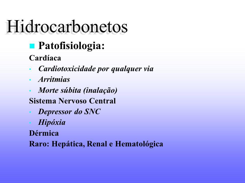 Hidrocarbonetos Hidrocarbonetos Patofisiologia: Cardíaca