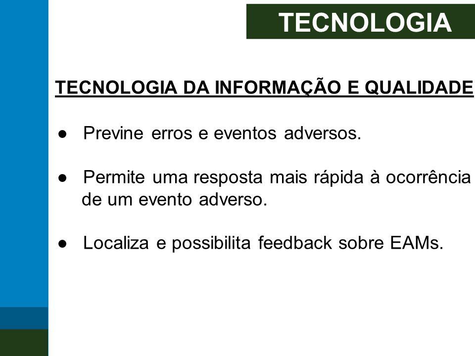 TECNOLOGIA TECNOLOGIA DA INFORMAÇÃO E QUALIDADE