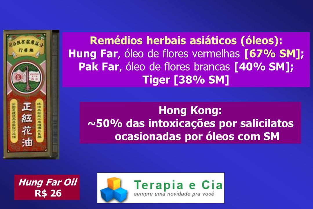 Remédios herbais asiáticos (óleos):