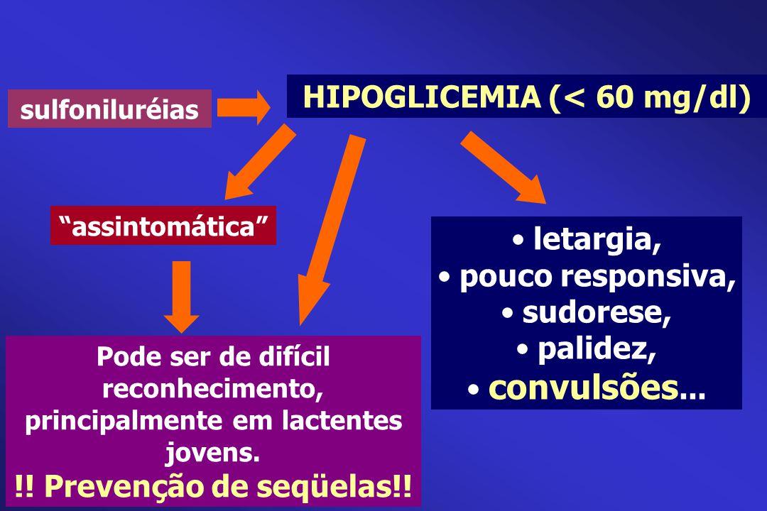 HIPOGLICEMIA (< 60 mg/dl)