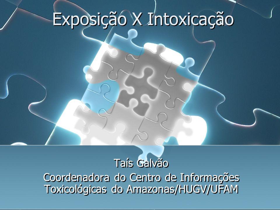 Exposição X Intoxicação