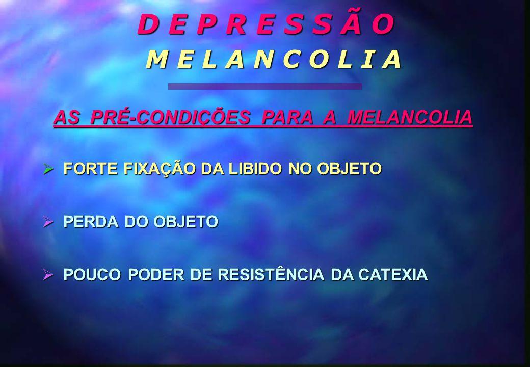 AS PRÉ-CONDIÇÕES PARA A MELANCOLIA