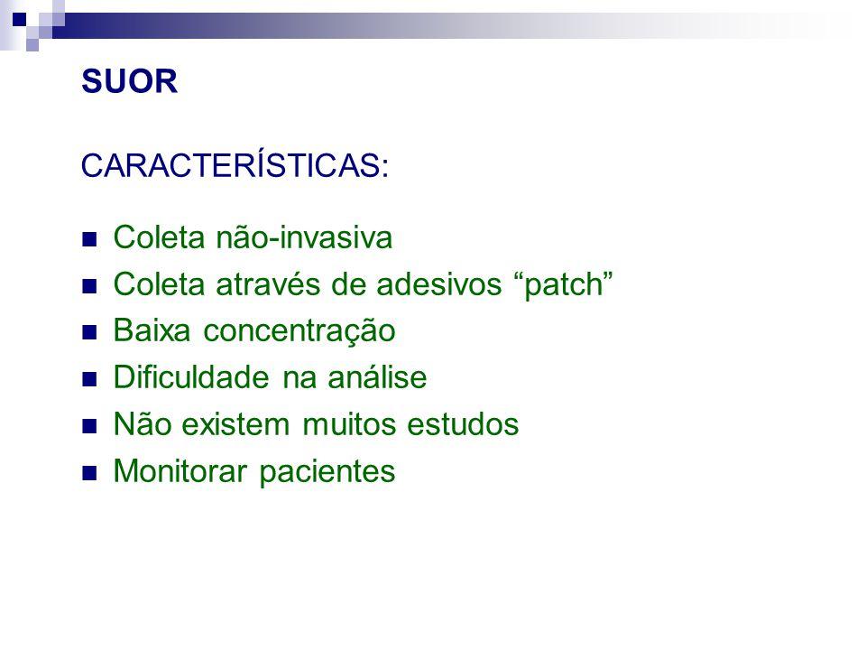 SUOR CARACTERÍSTICAS: Coleta não-invasiva