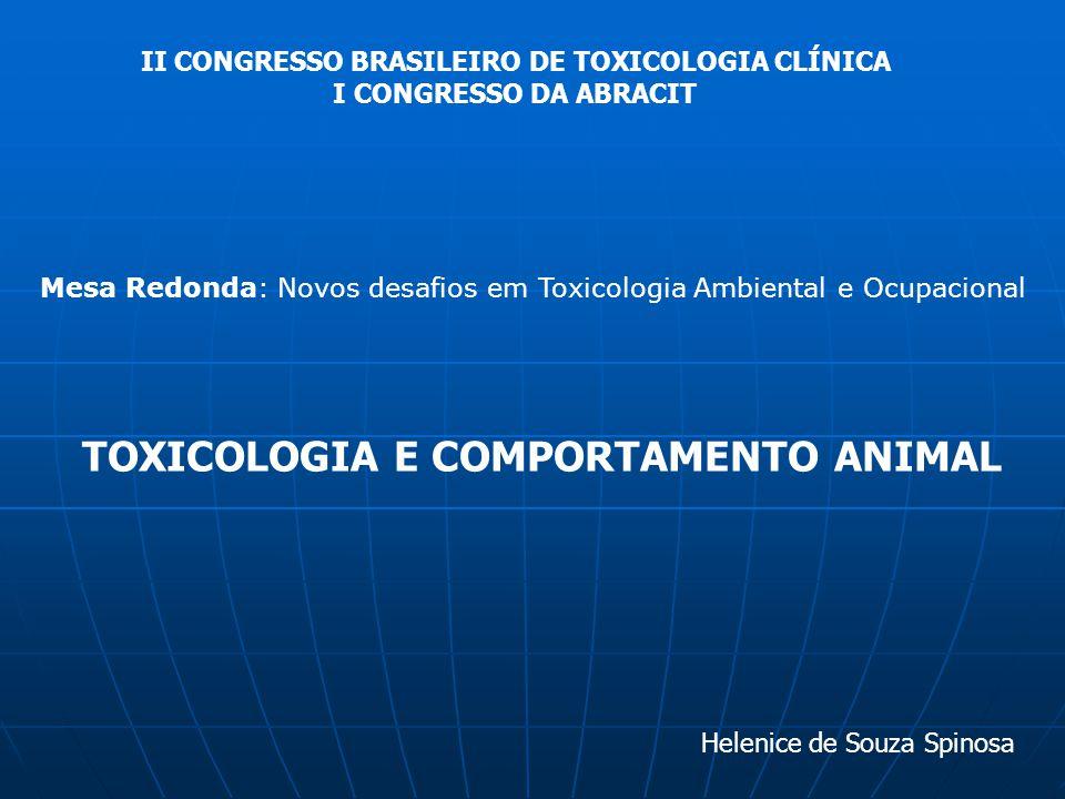 II CONGRESSO BRASILEIRO DE TOXICOLOGIA CLÍNICA