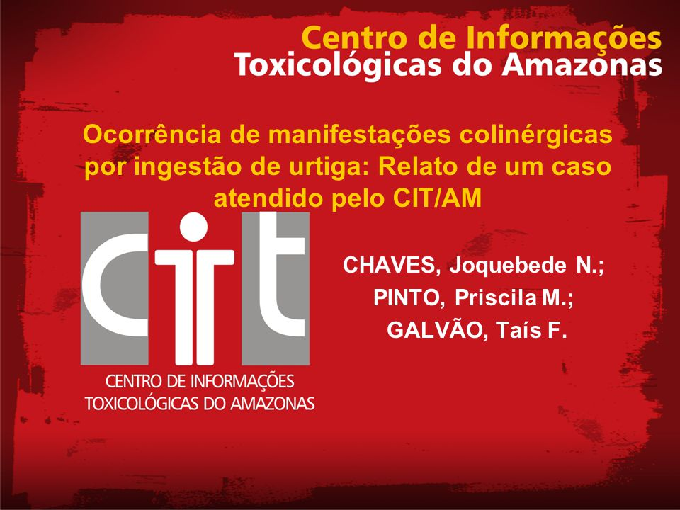 CHAVES, Joquebede N.; PINTO, Priscila M.; GALVÃO, Taís F.