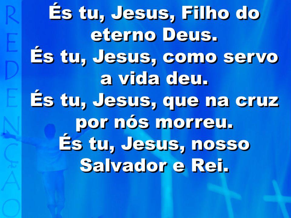 És tu, Jesus, Filho do eterno Deus.