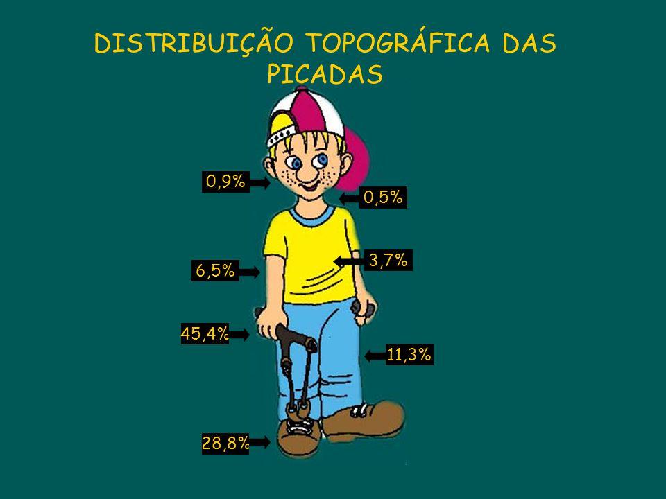DISTRIBUIÇÃO TOPOGRÁFICA DAS PICADAS