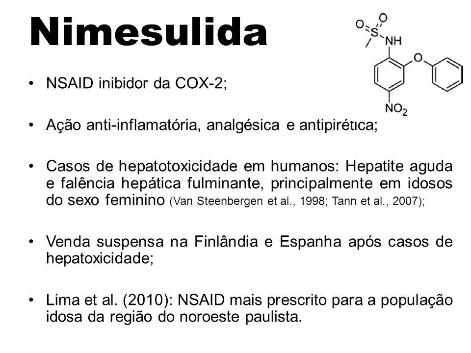 Nimesulida NSAID inibidor da COX-2;
