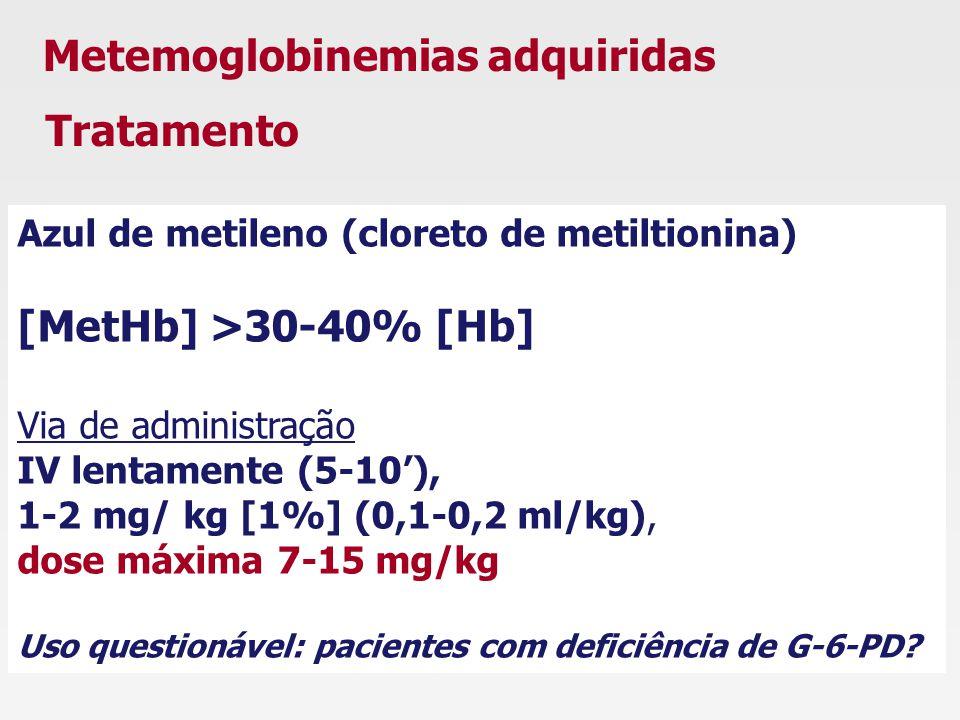 Metemoglobinemias adquiridas