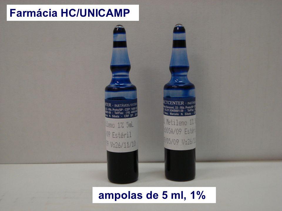 Farmácia HC/UNICAMP APRESENTAÇÃO: ampolas de 5 ml, 1%