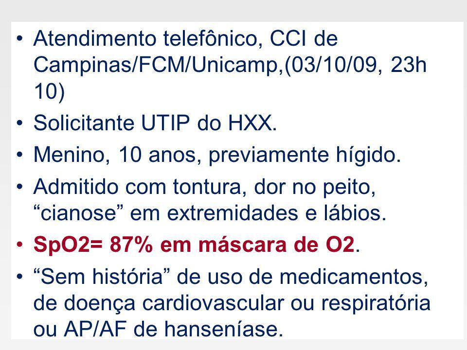 Atendimento telefônico, CCI de Campinas/FCM/Unicamp,(03/10/09, 23h 10)
