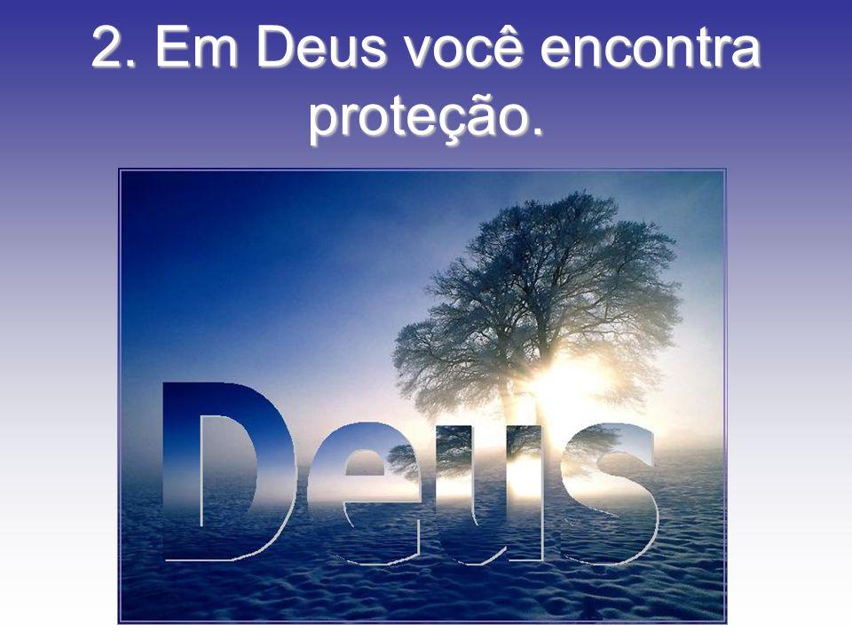 2. Em Deus você encontra proteção.
