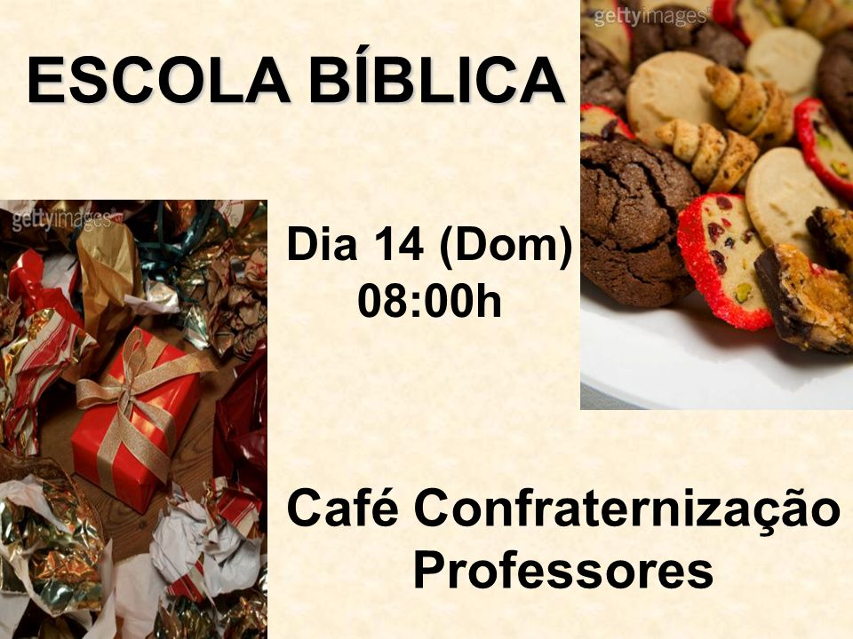 Café Confraternização Professores