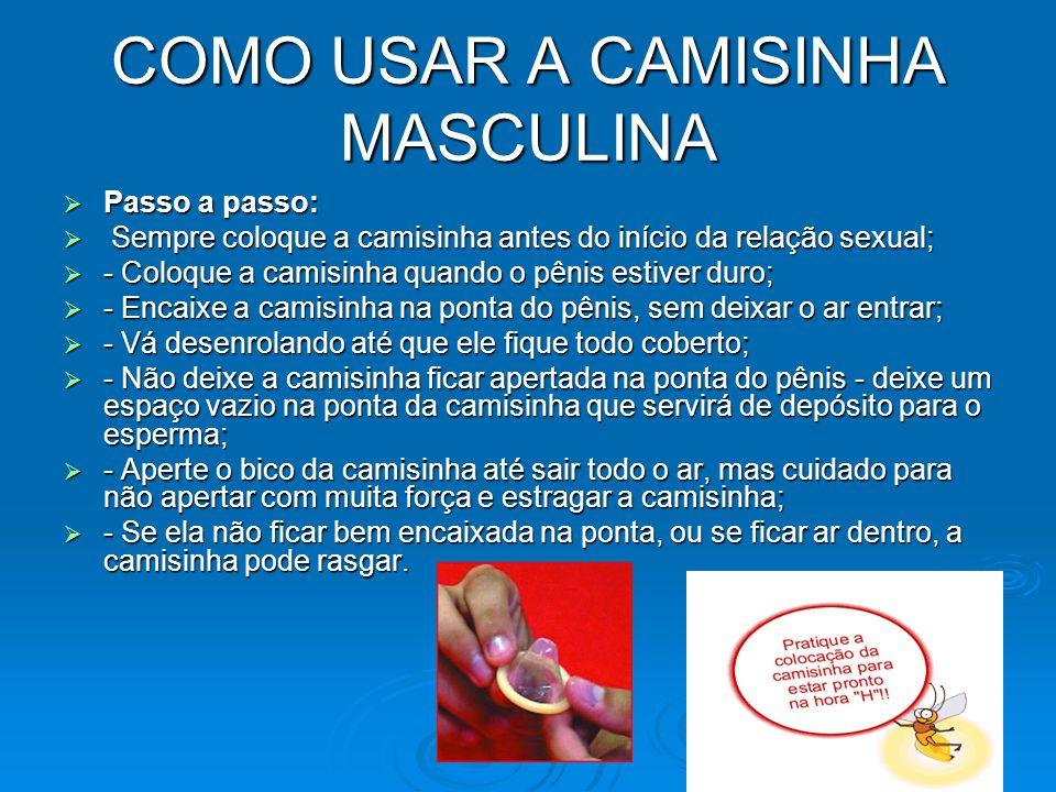 COMO USAR A CAMISINHA MASCULINA
