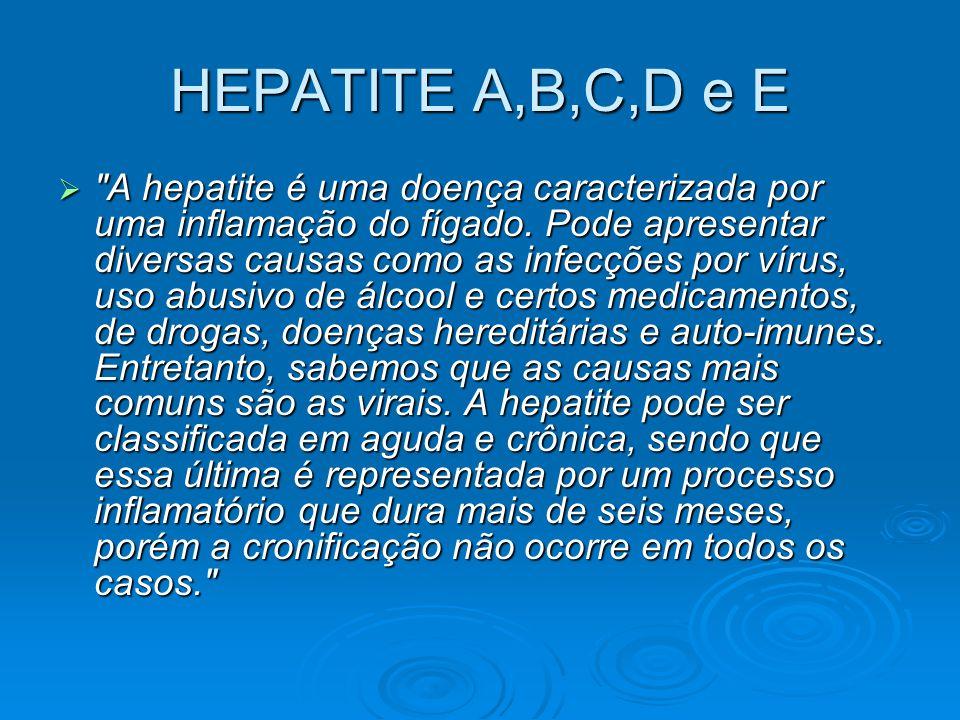 HEPATITE A,B,C,D e E