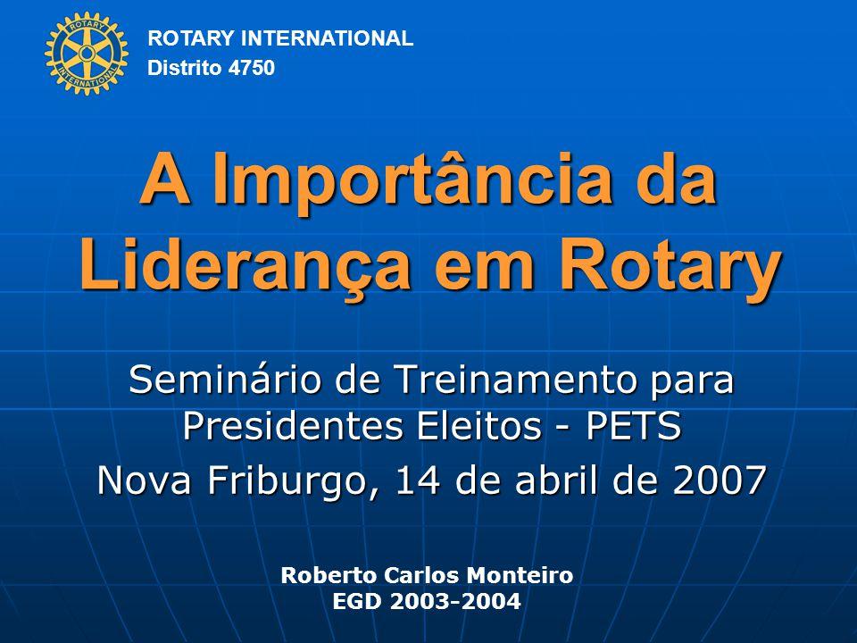 A Importância da Liderança em Rotary