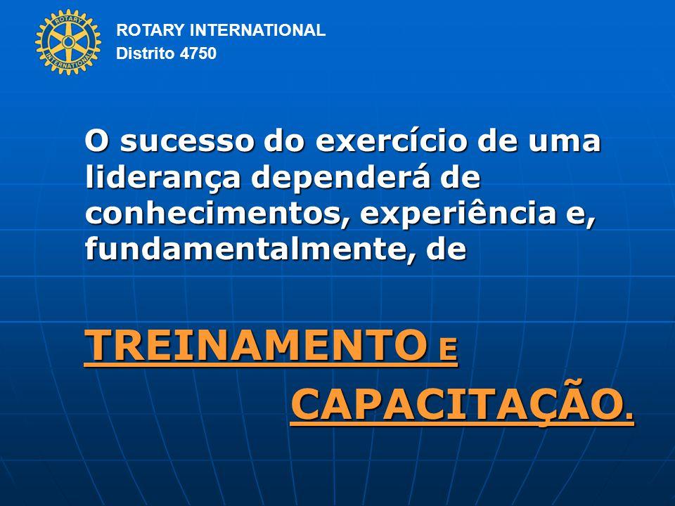 O sucesso do exercício de uma liderança dependerá de conhecimentos, experiência e, fundamentalmente, de