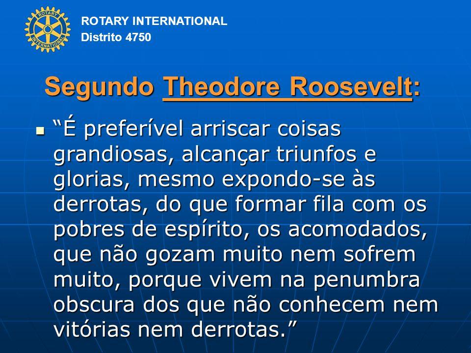 Segundo Theodore Roosevelt: