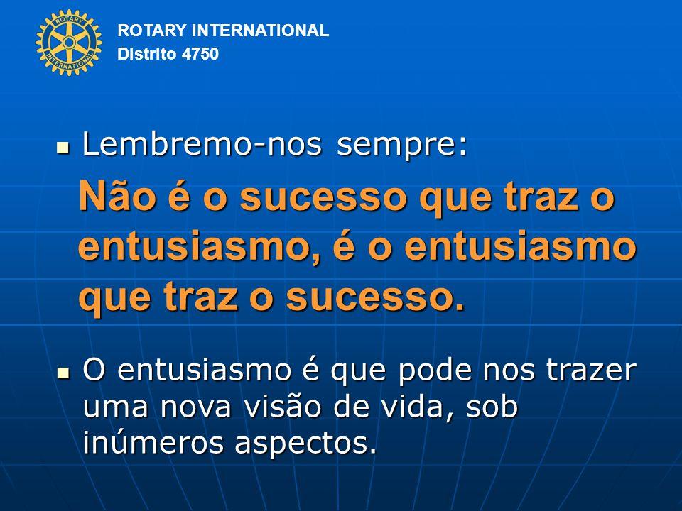Lembremo-nos sempre: Não é o sucesso que traz o entusiasmo, é o entusiasmo que traz o sucesso.