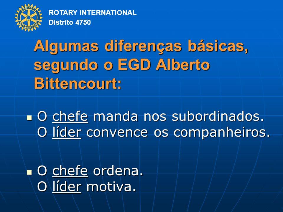 Algumas diferenças básicas, segundo o EGD Alberto Bittencourt: