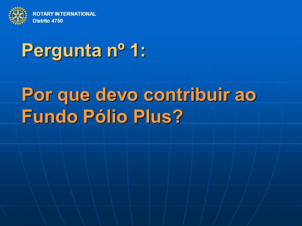 Pergunta nº 1: Por que devo contribuir ao Fundo Pólio Plus