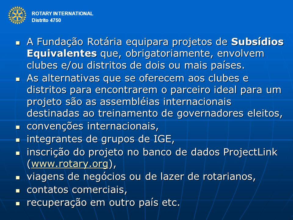 convenções internacionais, integrantes de grupos de IGE,