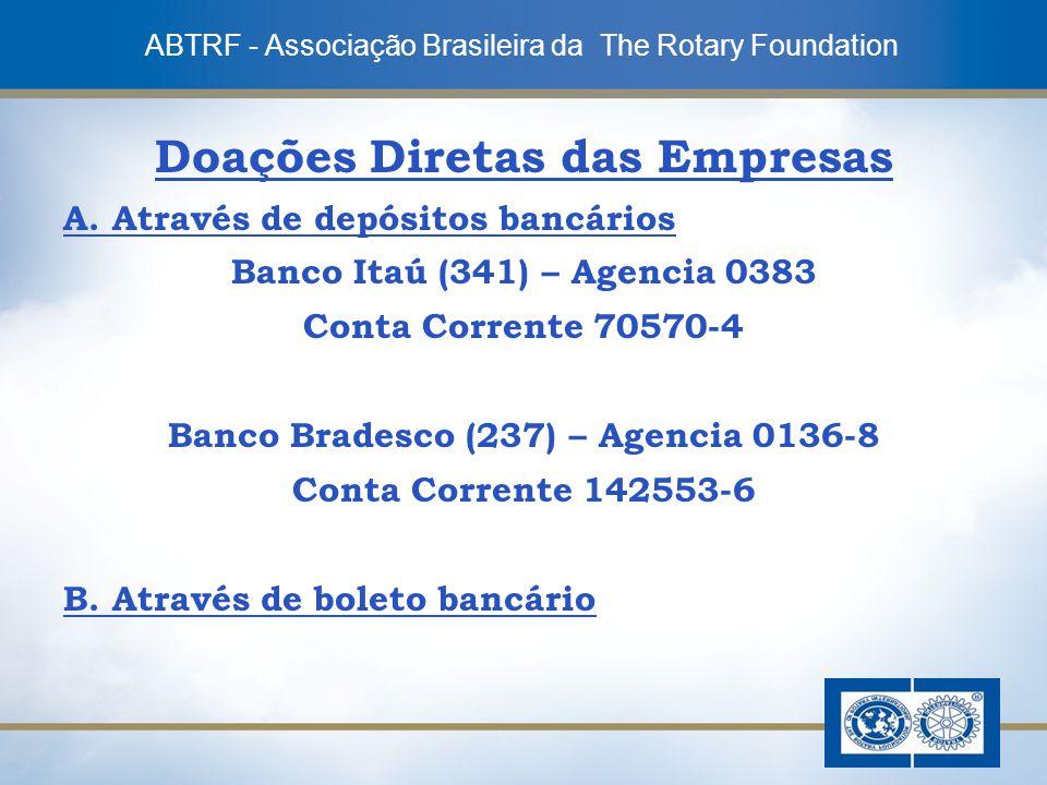Doações Diretas das Empresas Banco Bradesco (237) – Agencia 0136-8