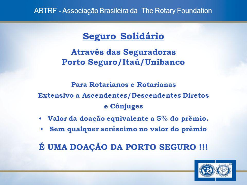 Seguro Solidário Através das Seguradoras Porto Seguro/Itaú/Unibanco