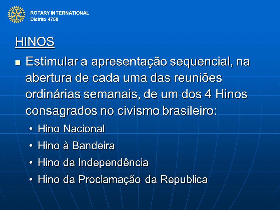 ROTARY INTERNATIONAL Distrito 4750. HINOS.