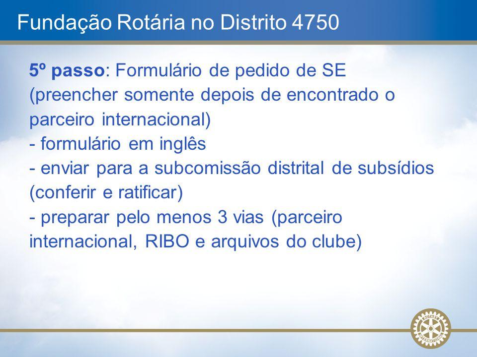Fundação Rotária no Distrito 4750