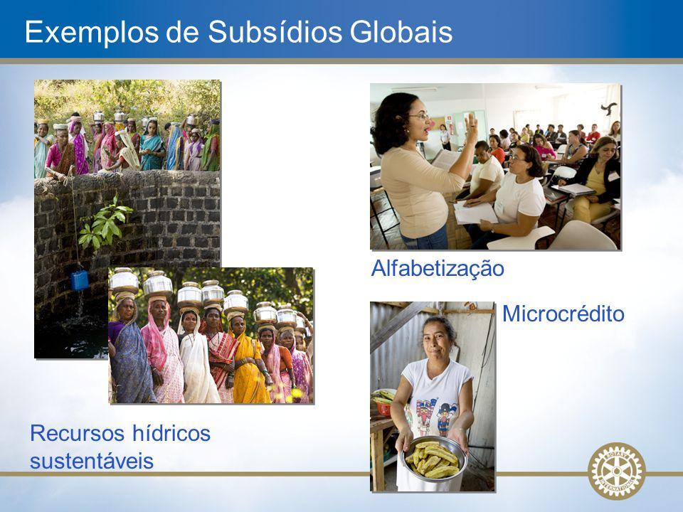 Exemplos de Subsídios Globais