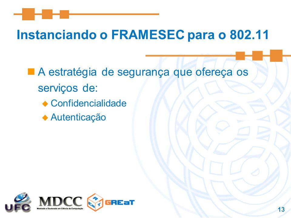 Instanciando o FRAMESEC para o 802.11