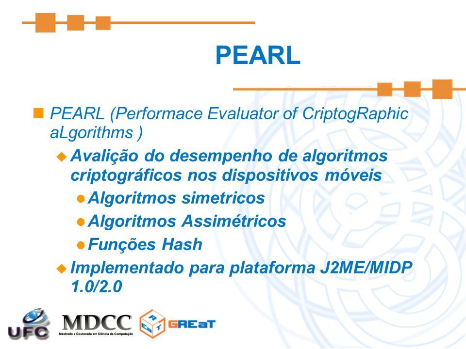 PEARL PEARL (Performace Evaluator of CriptogRaphic aLgorithms )