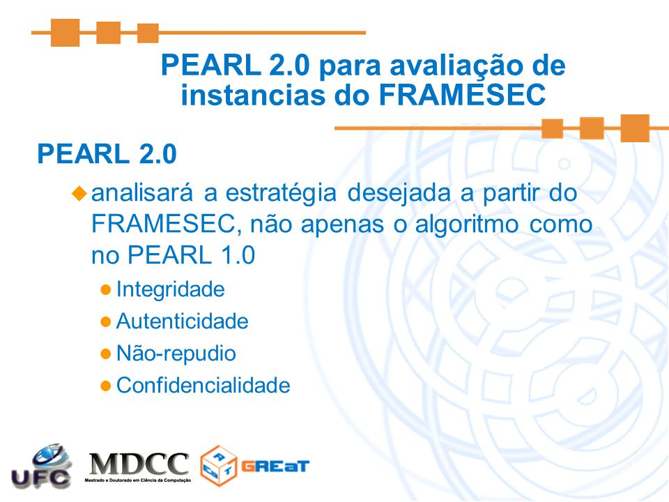 PEARL 2.0 para avaliação de instancias do FRAMESEC