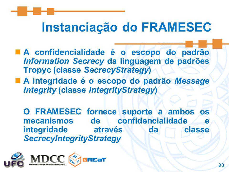 Instanciação do FRAMESEC