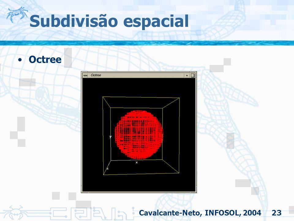 Subdivisão espacial Octree Cavalcante-Neto, INFOSOL, 2004
