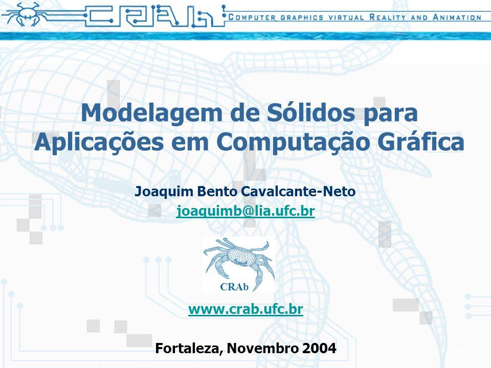 Modelagem de Sólidos para Aplicações em Computação Gráfica