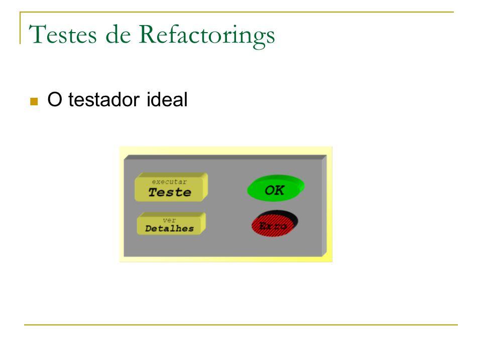 Testes de Refactorings