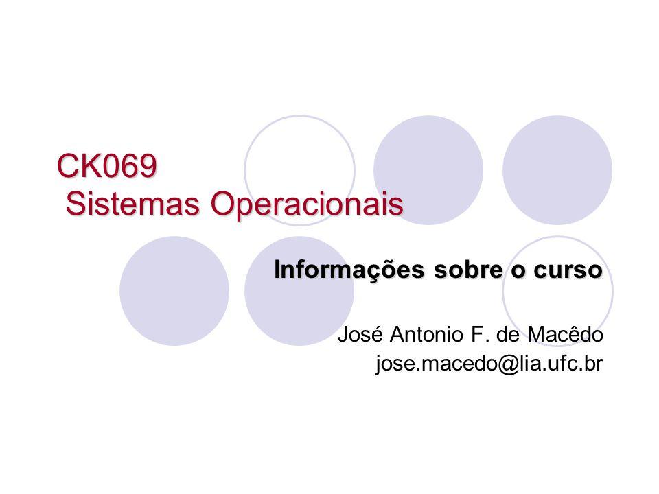 CK069 Sistemas Operacionais