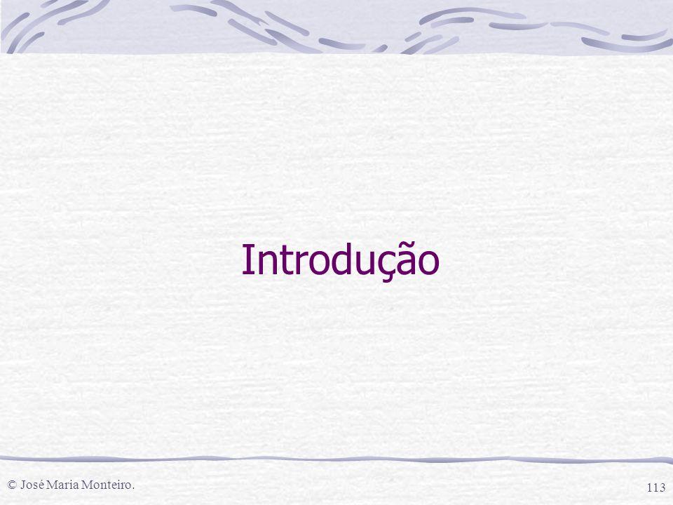 Introdução © José Maria Monteiro.
