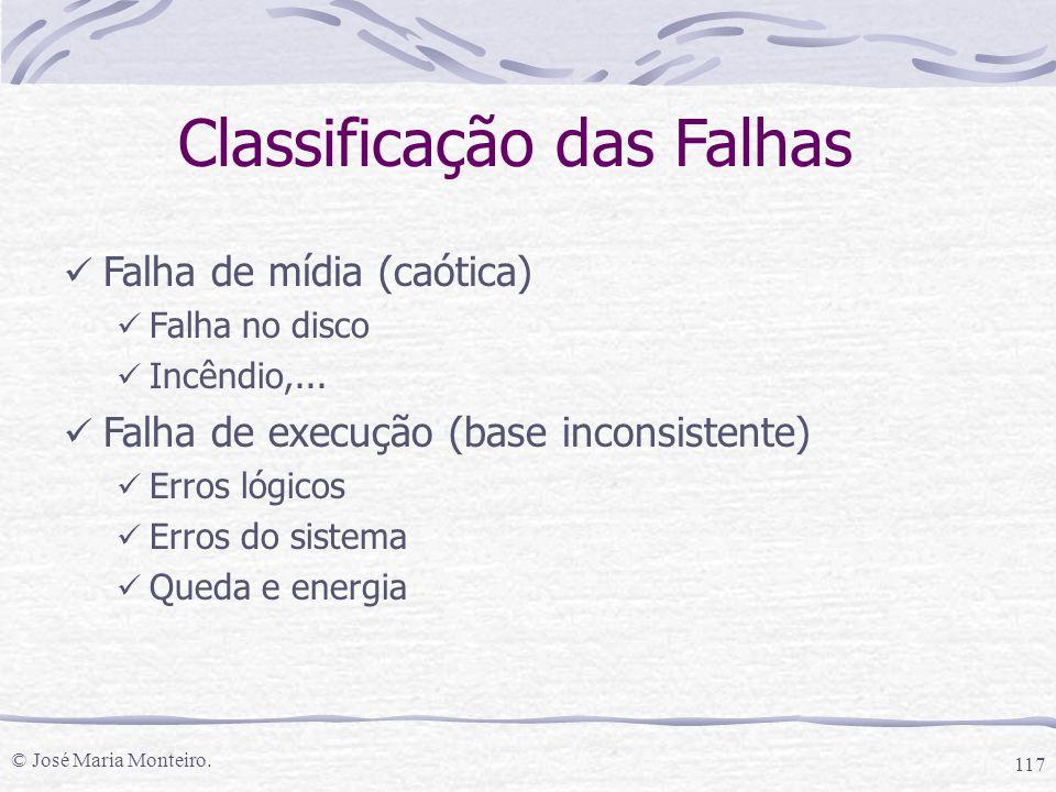 Classificação das Falhas