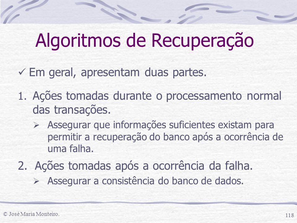 Algoritmos de Recuperação