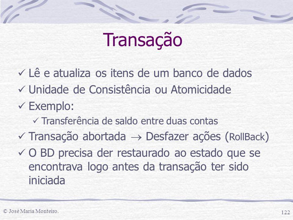 Transação Lê e atualiza os itens de um banco de dados