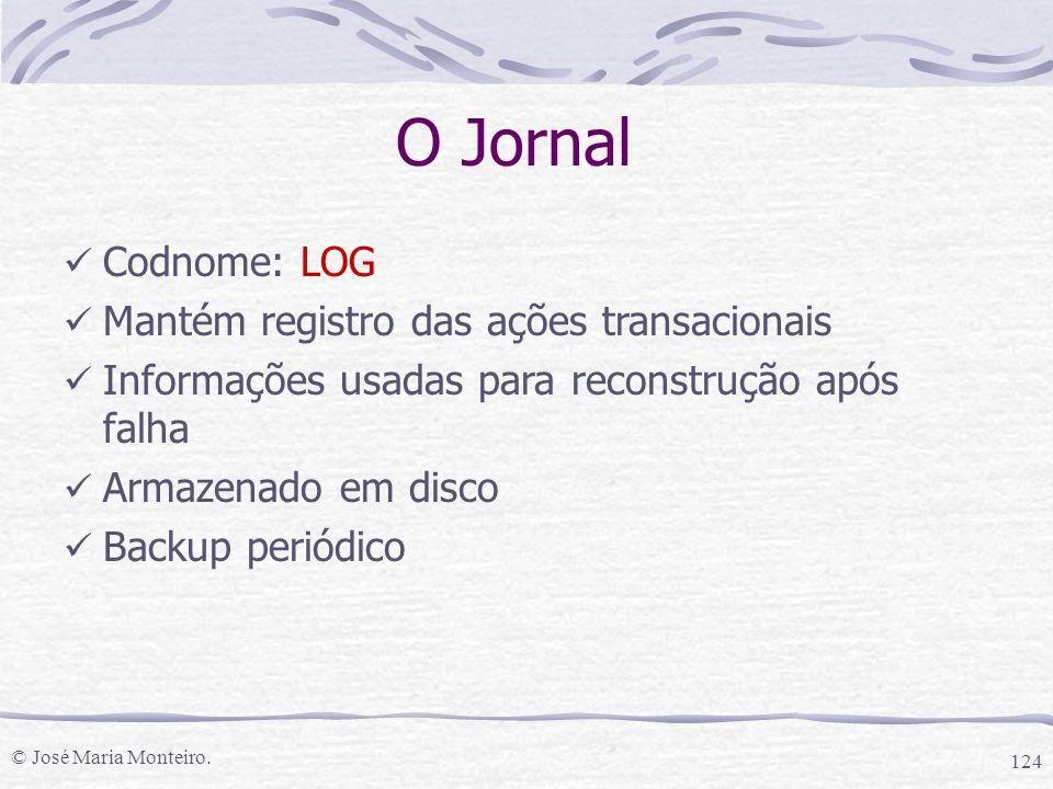 O Jornal Codnome: LOG Mantém registro das ações transacionais