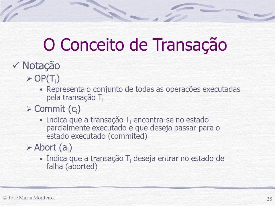 O Conceito de Transação