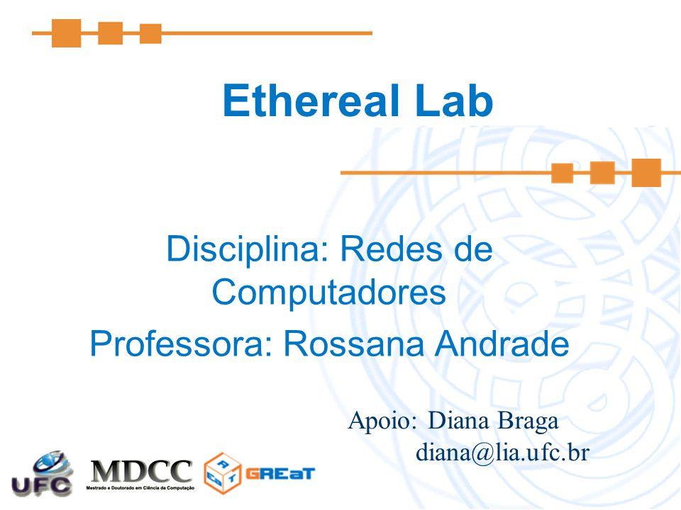 Disciplina: Redes de Computadores Professora: Rossana Andrade