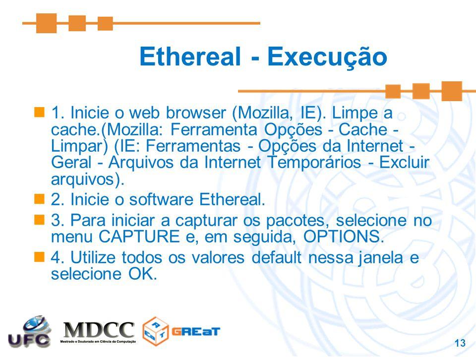 Ethereal - Execução