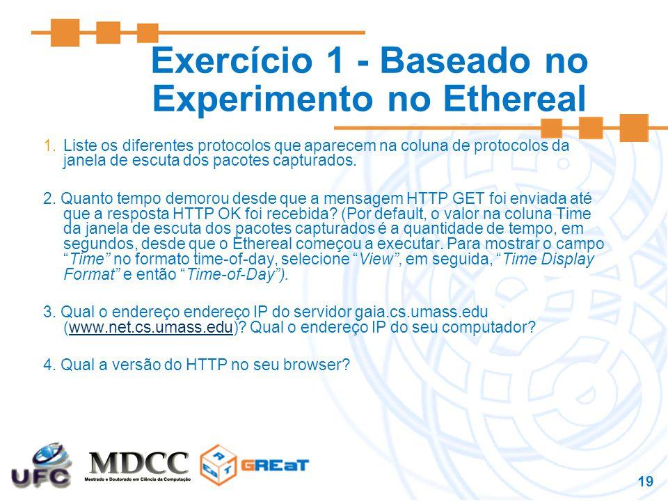 Exercício 1 - Baseado no Experimento no Ethereal