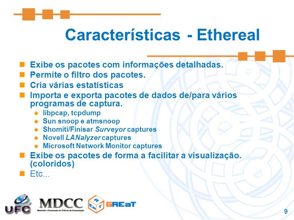 Características - Ethereal