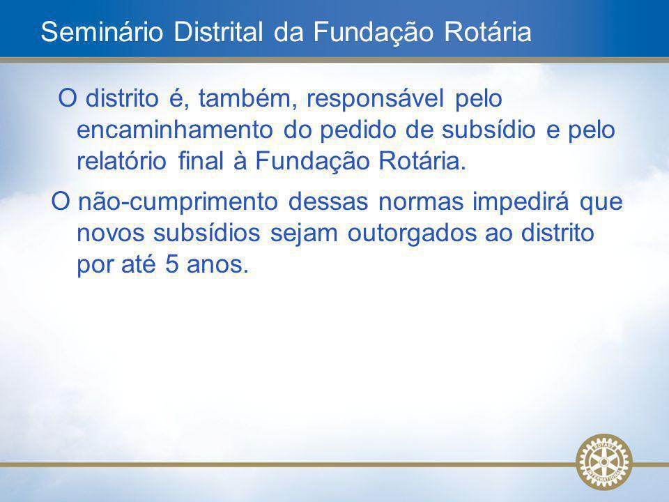 Seminário Distrital da Fundação Rotária